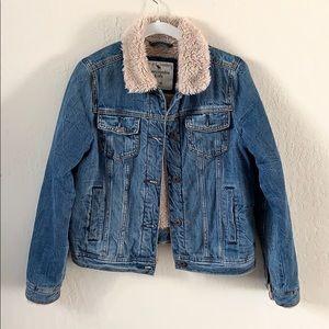 Abercrombie Kids Sherpa/Fur lined Denim Jacket